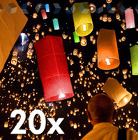 12-24M Multicolor Paper Free Shipping Flame Retardant Coloured 100% Flying paper Lanterns UFO Balloon Wishing Sky Lanterns Chinese Kongming Lanterns Christmas gift