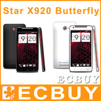 Wholesale Star X920 butterfly cell phone Android smart phone GPS Bluetooth inch Star Cell phone MP Camera FHD Dual sim card MTK6589 Quad Core