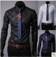 Formal Men Polyester XXXL Shirts 2013 mens business shirts silk shiny shirt summer collar shirt denim shirt long sleeved shirt men designer dresses