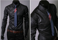 Casual Men Polyester 2013 silk shiny mens shirts long cool shirts for men mens dress shirts designer