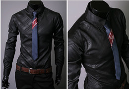 Wholesale 2015 silk shiny mens shirts long cool shirts for men mens dress shirts designer
