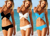 Wholesale Fashion Sexy Women Push Up Padded Summer Trikini Bikini Set Swimwear Girl Lady Swimming Swimsuit Colors Can Choose