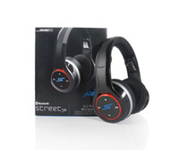 Wholesale Hot sale SMS Audio SYNC by Cent DJ PRO Wireless Headphone G Over Ear Folding Bluetooth Headphones Black Earphones DHL Free