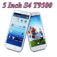Wholesale New S4 T9500 S G quot Feiteng Dual Sim Mobile Cell Phone S3 Dual core GHZ Capacitive Android WIFI Bluetooth SC6820