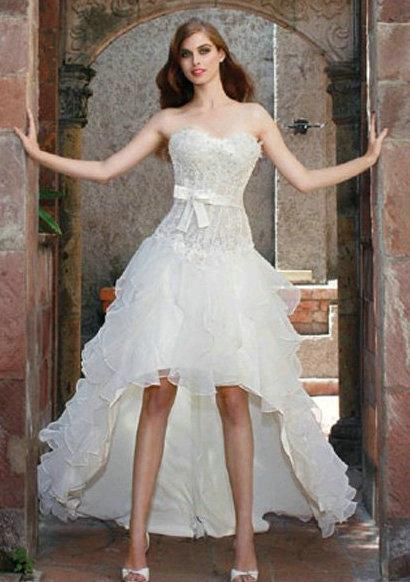 Beach Wedding Dresses Short In Front Long In Back : Short front long back beach wedding dresses boneless