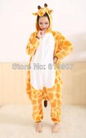 Wholesale New Fashion Cushzilla Giraffe KIGURUMI Pajamas Adult Animal Halloween cosplay Costume S M L XL Free