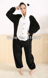 Wholesale JP Anime Kigurumi Pajamas Panda Cosplay Costume Pyjamas Hoodies Helloween Party Dress