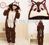 Wholesale Men Women Brown Chipmunk Cosplay Costume Kigurumi Animal Hoodies Pajamas Causal Lounge Sleepwear