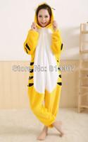 Wholesale New Fashion S M L XL Adult Tiger Sleepwear Cosplay Costumes Animal Tigers Kigurumi Pyj