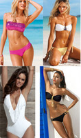 Bikini set women's bikini Women Newest Hot Sexy Womens Bikini Swimwear Fringe Sequin Monokini Swimsuits Bathing Suit Top & Bottom Mix order Summer deal Low Price Promotion