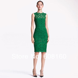 Wholesale 2013 New Sexy Sleeveless Slim Fit Bow Lace Sheath Solid Green black white Brief Evening Dresses