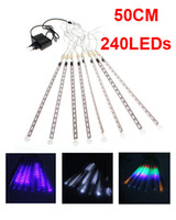 Wholesale 50CM LED Meteor Shower Rain Tube Lights Outdoor Tree Decoration