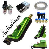 Wholesale Complete Tattoo Kit Neuma Style Pneumatic Rotary Tattoo Machine Gun Kit Nuclear green