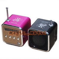 Wholesale High Quality Mini Portable TD V26 Music speaker support U disk Micro SD TF card FM radio With LED Screen