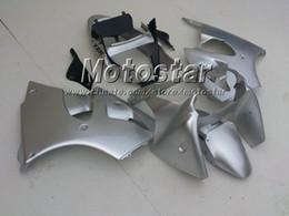All Silver custom fairing Kit FOR KAWASAKI Ninja ZX6R 636 00-02 ZX-6R 00 01 02 ZX 6R 2000 2001 2002 after market fairings