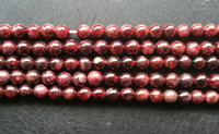 Wholesale 6MM Natural Red Garnet Loose Bead Strands Semi Precious Stone Jewelry Beads Findings