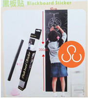 Wholesale 45x200CM CHALKBOARD BLACK WHITE DRY ERASE BOARD WALL STICKER SELF ADHESIVE VINYL