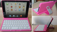 Wholesale 2013 New Degree Rotation Bluetooth Keyboard Aluminum Hard Shell Case Swivel Stand for Apple New IPAD MINI