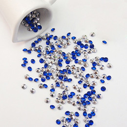 Wholesale packs mm Royal Blue with Silver Plated Diamond Confetti Wedding Decoration Wedding Favor Table Scatter