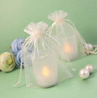 Wholesale 17 colors Pick Ivory cm Sheer Organza Bag Wedding Favor Supplies Gift Candy Bag