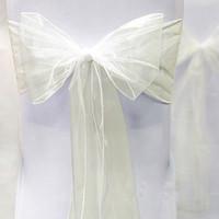 Wholesale Hot Sale Ivory quot cm W x quot cm L Sheer Organza Sashes Wedding Party Banquet Chair Organza Sash New Arrivals