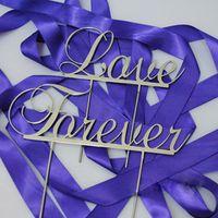 accessories forever - cm quot Monogram Silver Metal LOVE FOREVER Wedding Favor Cake Topper