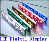 Wholesale LED Digital desktop display All language led Scrolling Message Meeting screen clock display red yellow blue white green color best price