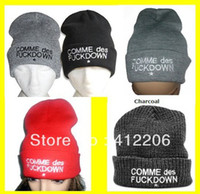 Wholesale SSUR COMME DES FUCKDOWN Beanie hat Basketball Baseball Football beanies cap wool winter knitted caps and hats for man and women