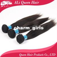 Wholesale Queen hair products peruvian virgin hair extenstions natural straight Mixed length each size same size