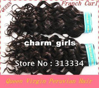 Wholesale Queen hair products virgin peruvian hair extensions queen peruvian virgin hair franch curly water wave quot quot