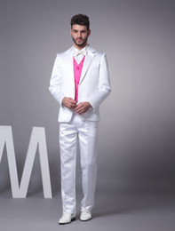 Wholesale Nice White Single Breasted Button Worsted Groom Wedding Tuxedo suit u5 y