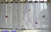 Wholesale 2pcs Butterfly KITCHEN CURTAIN