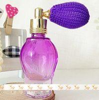 mini perfume atomizer - 10ml Purple Red Yellow Perfume Glass Bottle with Gasbag MINI Perfume Atomizer DC104