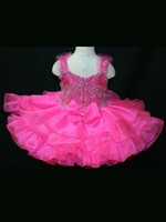 Wholesale Lovely Ruffled Skirt Girl s Pageant Dress Infant Pageant Gown