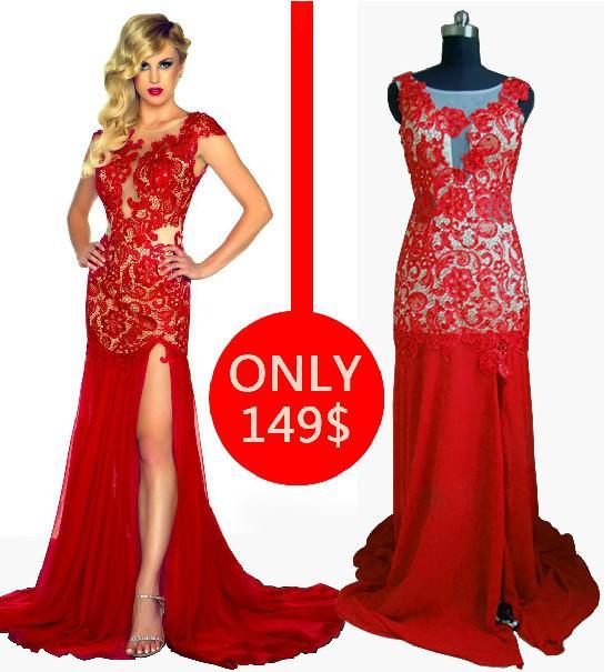 sexy red evening dresses_Evening Dresses_dressesss