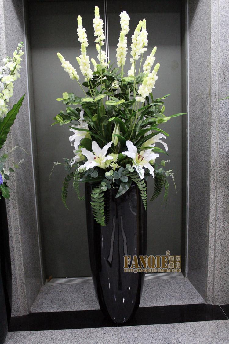 Large Floor Vase Set Modern Fashion Decoration Set Flowers