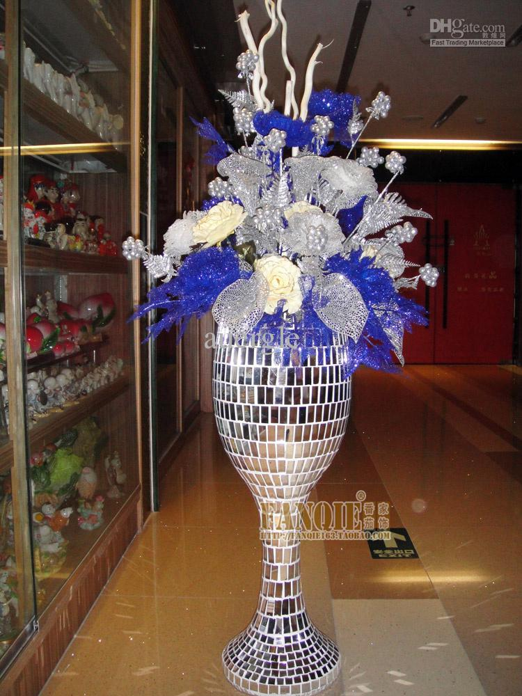 Large floor vase set modern fashion artificial flower for Floor vase with flowers