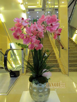 Cheap Modern desktop vase decoration fashion brief coffee table dining table soft fashion decoration set flower