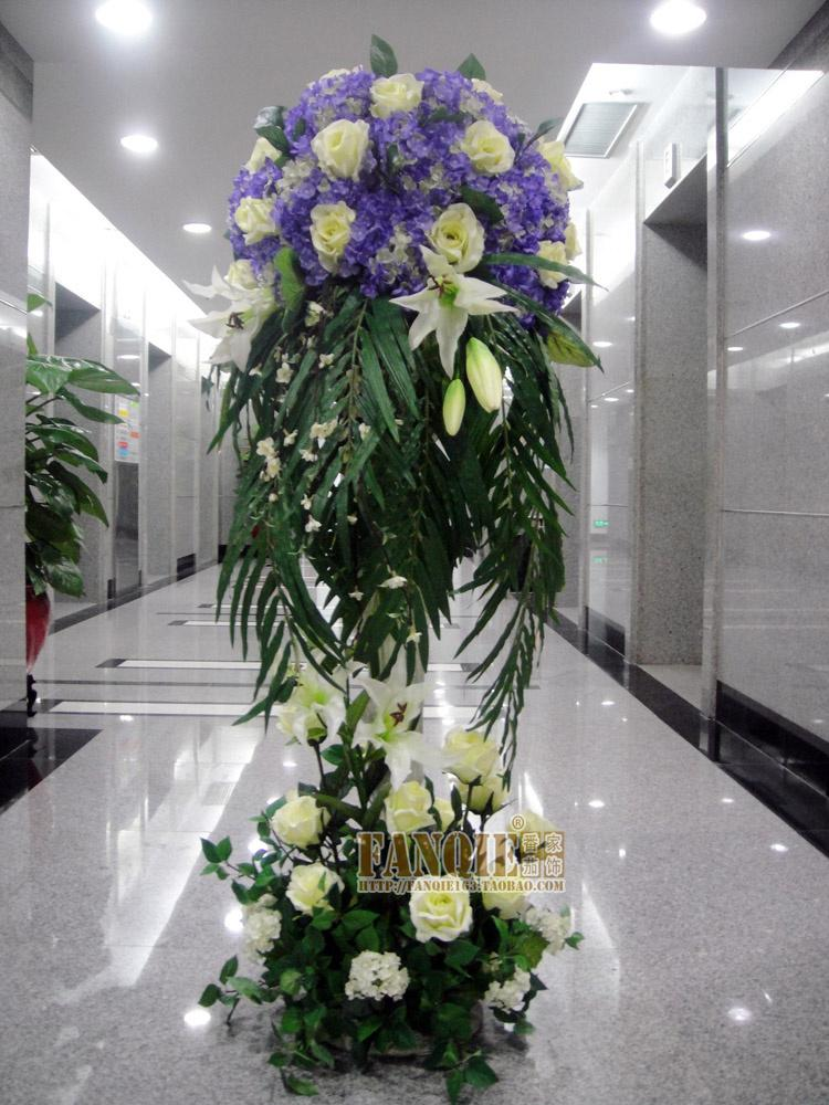 Fashion large floor vase set modern fashion decoration for Floor vase with flowers