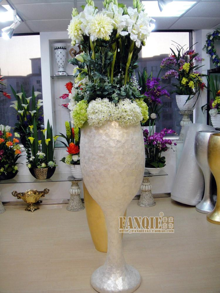 Large floor vase set artificial flower modern fashion for Artificial flowers for home decoration india