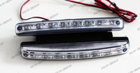 Cheap LLFA546 2x Car Truck Van Daytime Running Light Head Lamp White 8 LED DRL Daylight Kit