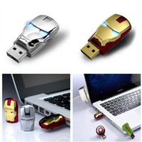 Wholesale S Sale Flawless Avengers Iron Man LED Flash GB USB Flash Memory Drive Stick Pen ThumbCar