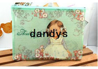 Wholesale New paper doll girl coin bag lovely pencil bag styles