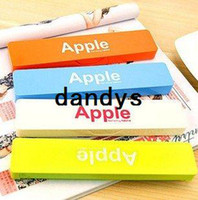 Wholesale Cute Apple mini Plastic pencil box pencil case pencil pouch have color FreeShipping