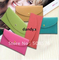 Wholesale Korea style Hot sell Pu Leather women long style wallt Card bag case FreeShipping