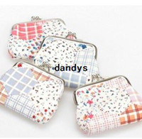 chinese bags - 24Pcs Small Floral coin purses chinese vintage style coin bags mixed styles cm FreeShipping