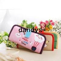 fabric korea - Korea style Cartoon long style Fabric Card amp ID Holders Fabric card bag money clips FreeShipping