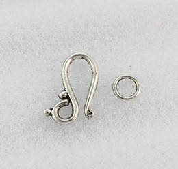 30 Sets Of Antiqued silver Plate Hook Ring toggle clasps A1277