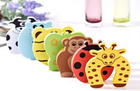 safety baby - 20pcs set Child kids Baby Animal Cartoon Jammers Stop Door stopper holder lock Safety Guard Finger