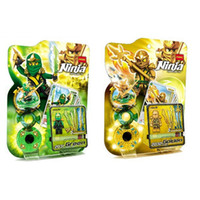 Wholesale Decool Ninja Golden Green Ninja set Building Block Sets Weapon Gyro Minifigure Educational DIY Bricks Toys